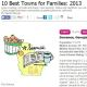 Family Circle magazine top towns for families